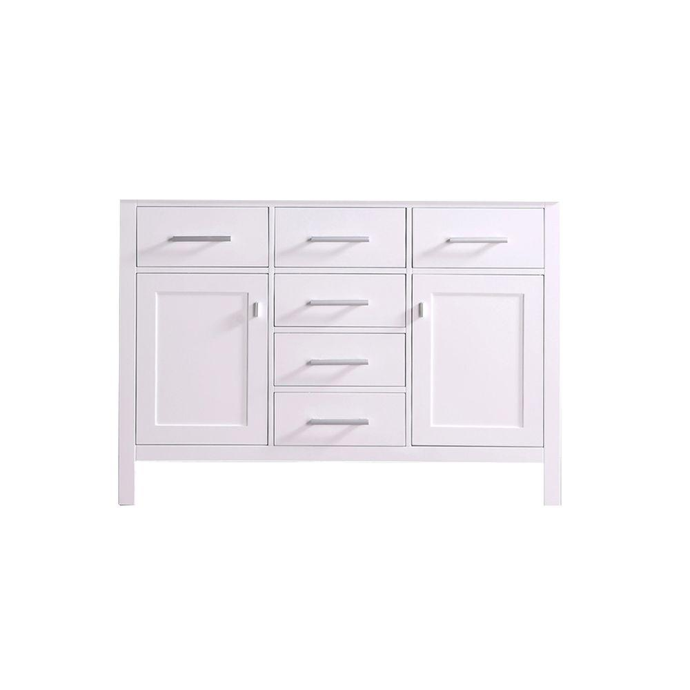 Design Element London 47.5 in. W x 21.5 in. D Vanity Cabinet Only in White