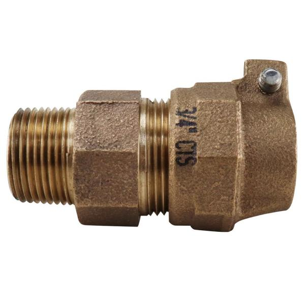 3/4 in. x 3/4 in. CTS Brass Compression x MIP Lead Free Straight Pack Joint Adapter