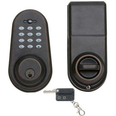 Single Cylinder Oil-Rubbed Bronze Electronic Deadbolt