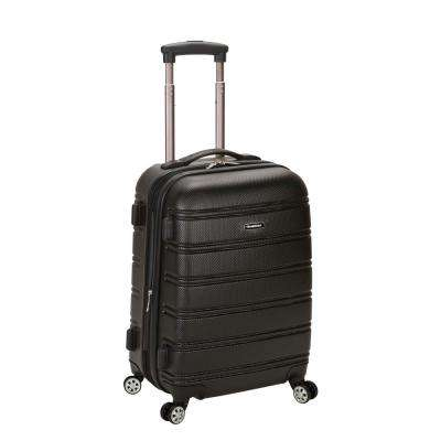 Melbourne 20 in. Expandable Carry on Hardside Spinner Luggage, Black