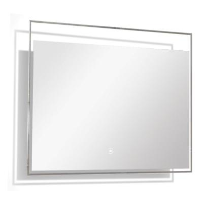 Taylor 31.5 in. W x 23.62 in. H Frameless Square LED Light Bathroom Vanity Mirror in Silver