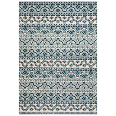 Veranda Turquoise/Blue 5 ft. x 8 ft. Indoor/Outdoor Area Rug