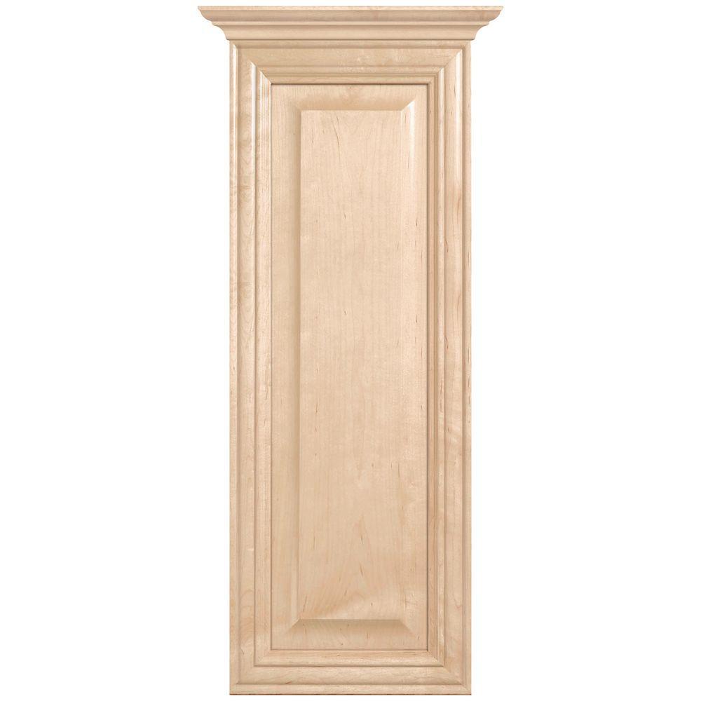 MasterBath Raised Panel 12 in. W Wall Hutch Cabinet in Natural Maple