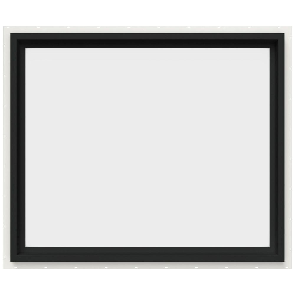 JELD-WEN 35.5 in. x 29.5 in. V-4500 Series Fixed Picture Vinyl Window in Bronze