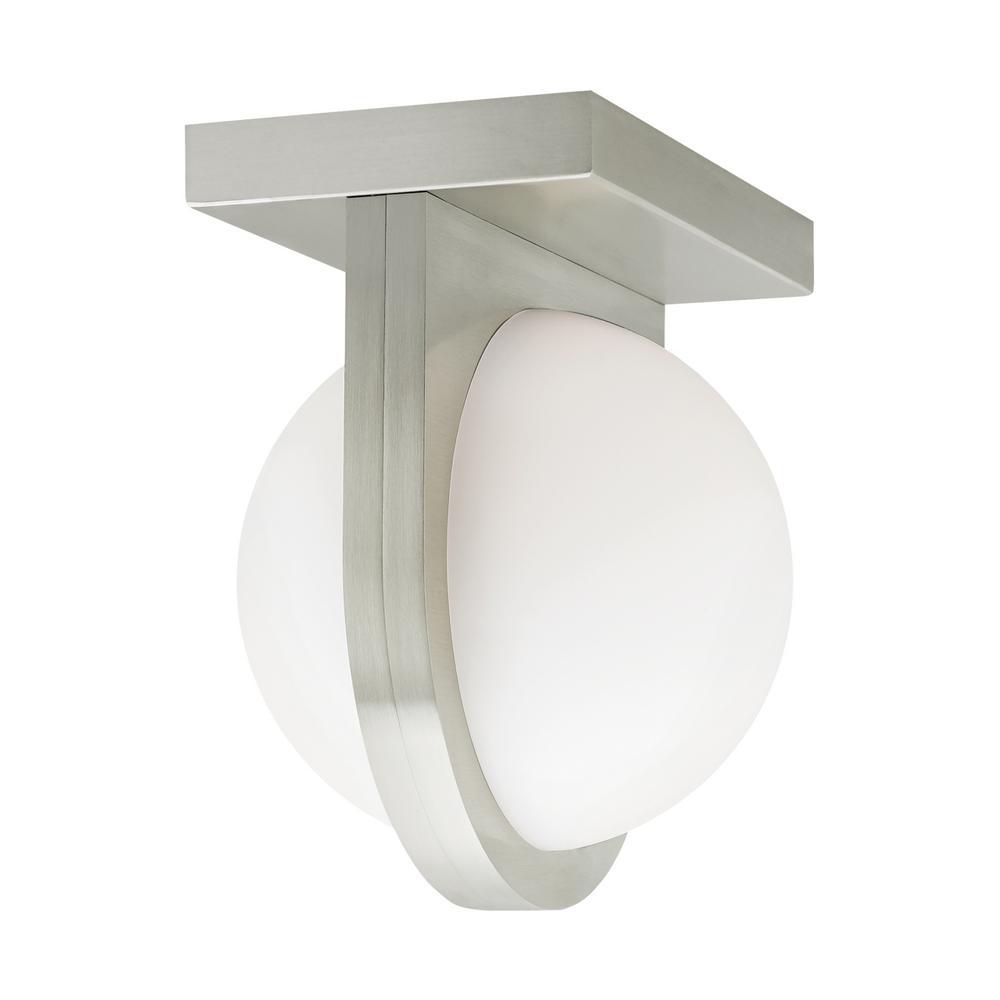 Capture 24-Watt Satin Nickel Integrated LED Flush Mount