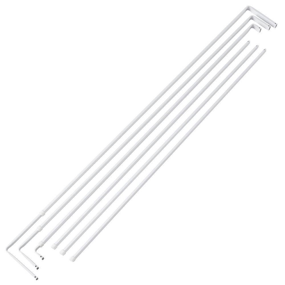 84 in. - 120 in. Lockseam Triple Single Curtain Rod