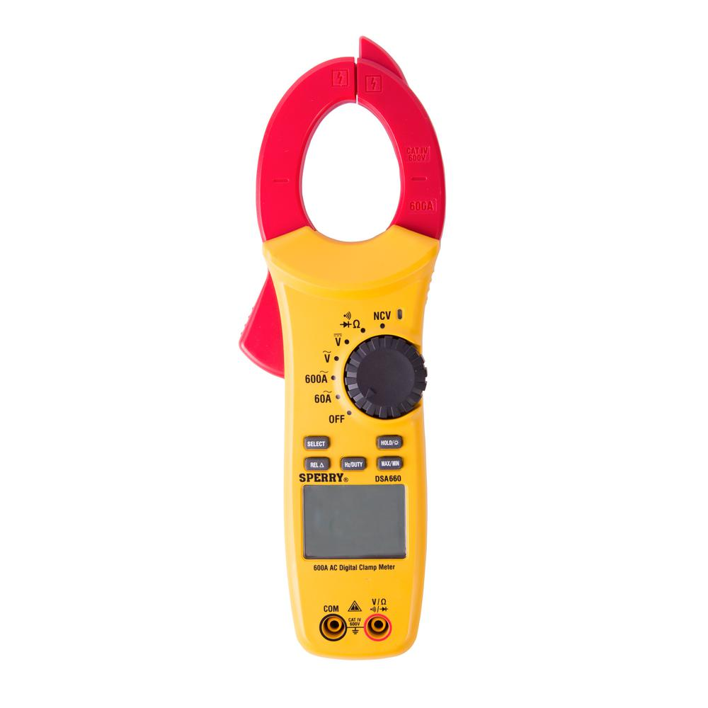 6-Function 600 Amp Auto Ranging AC-Only Digital Snap-Around Clamp Meter