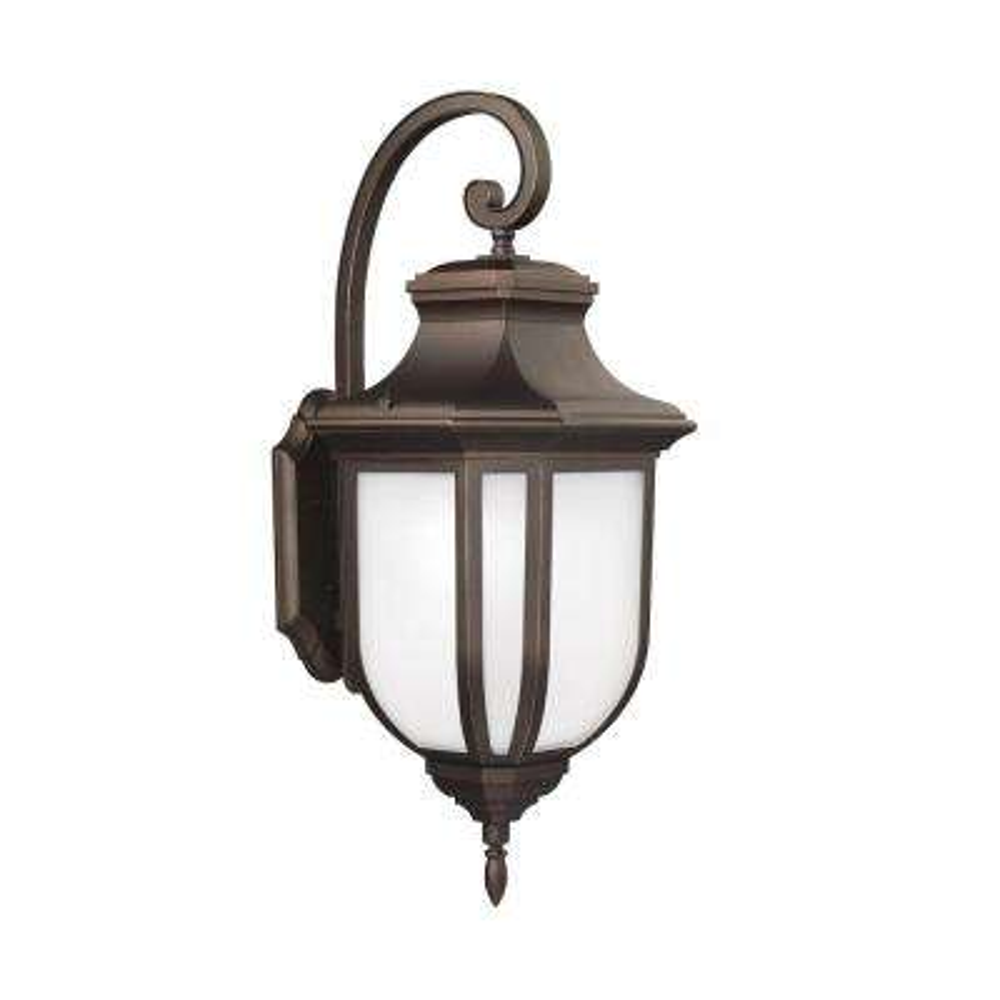 Childress 1-Light Antique Bronze 14.625 in. Wall Lantern Sconce