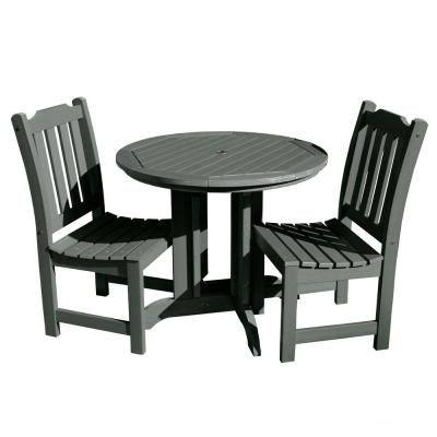 Lehigh Charleston Green 3-Piece Recycled Plastic Round Outdoor Dining Set