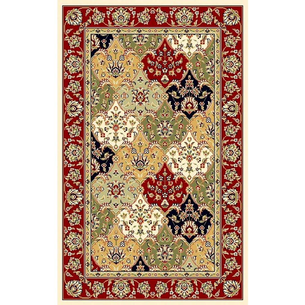 Lyndhurst Multi/Red 4 ft. x 6 ft. Area Rug