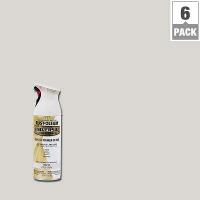 12 oz. All Surface Matte Iced Gray Spray Paint and Primer in One (6-Pack)