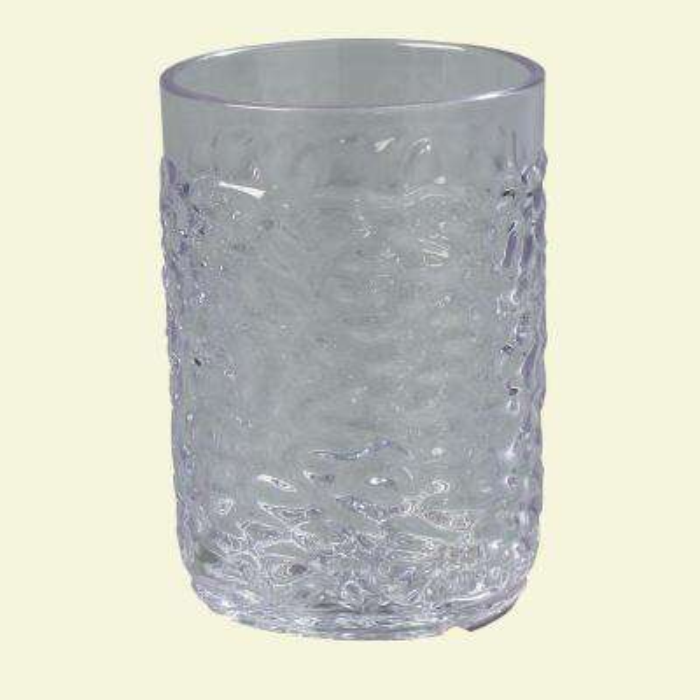 5 oz. SAN Plastic Pebble Optic Tumbler in Clear (Case of 24)