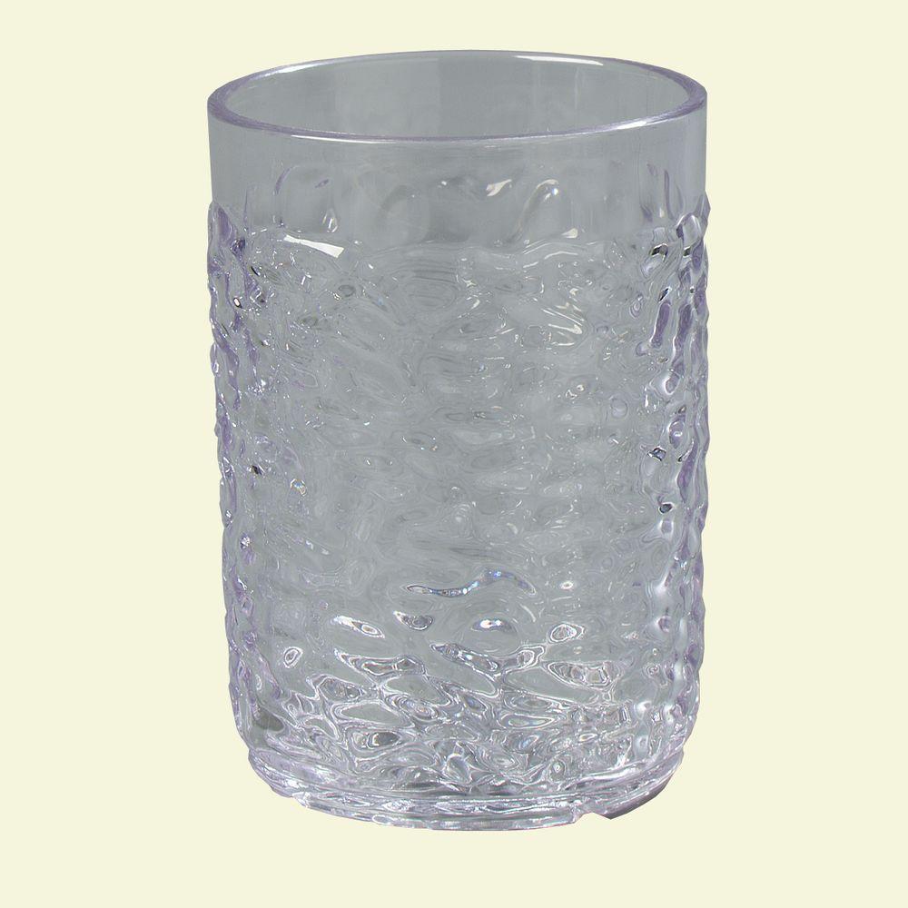 Carlisle 5 Oz San Plastic Pebble Optic Tumbler In Clear Case Of 24 550507 The Home Depot