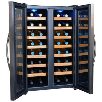 32-Bottle Dual-Zone Freestanding Wine Cooler