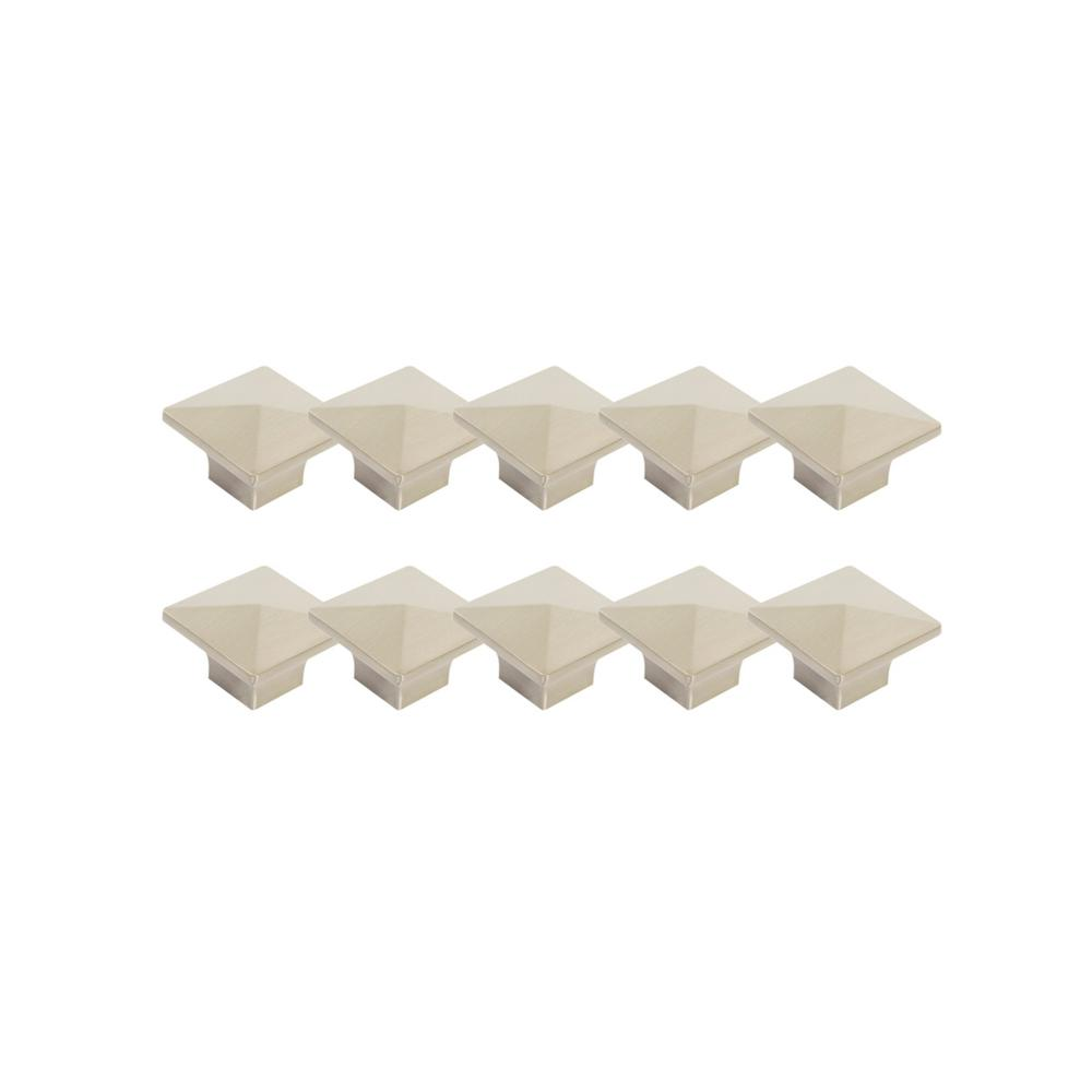 Design House Crown 1-2/5 in. Brushed Nickel Knob Value Pack (10 per Pack)