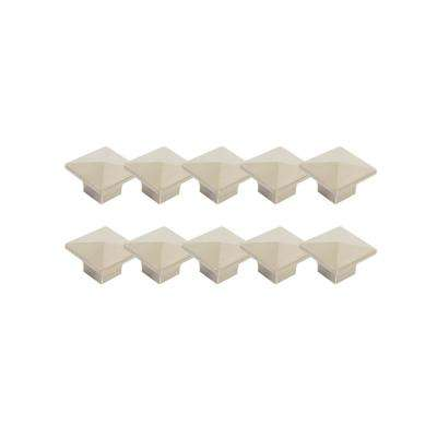 Crown 1-2/5 in. Brushed Nickel Knob Value Pack (10 per Pack)