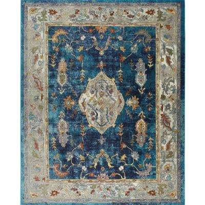 Parlin Navy/Ivory 9 ft. 2 in. x 12 ft. 5 in. Indoor Area Rug