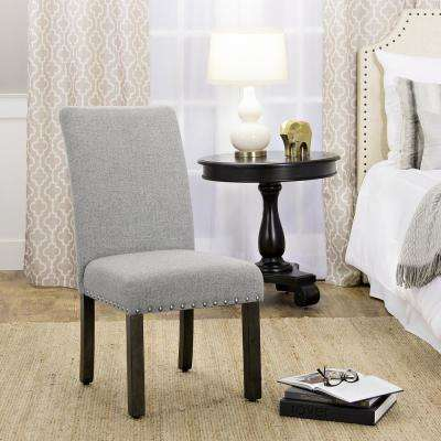 Nail Grey Head Parsons Chairs (Set of 2)