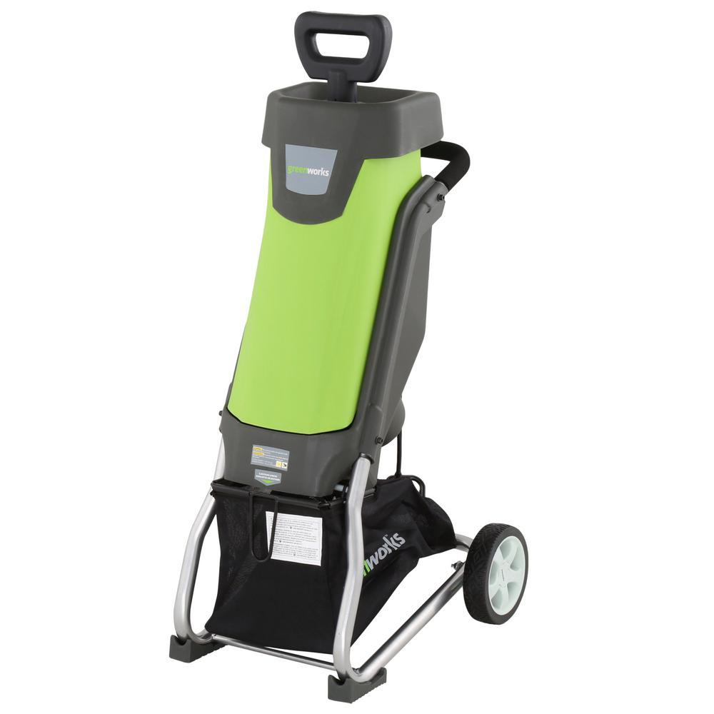 Greenworks 0.375 in. 15 Amp Electric Chipper-GW24052 - The Home Depot