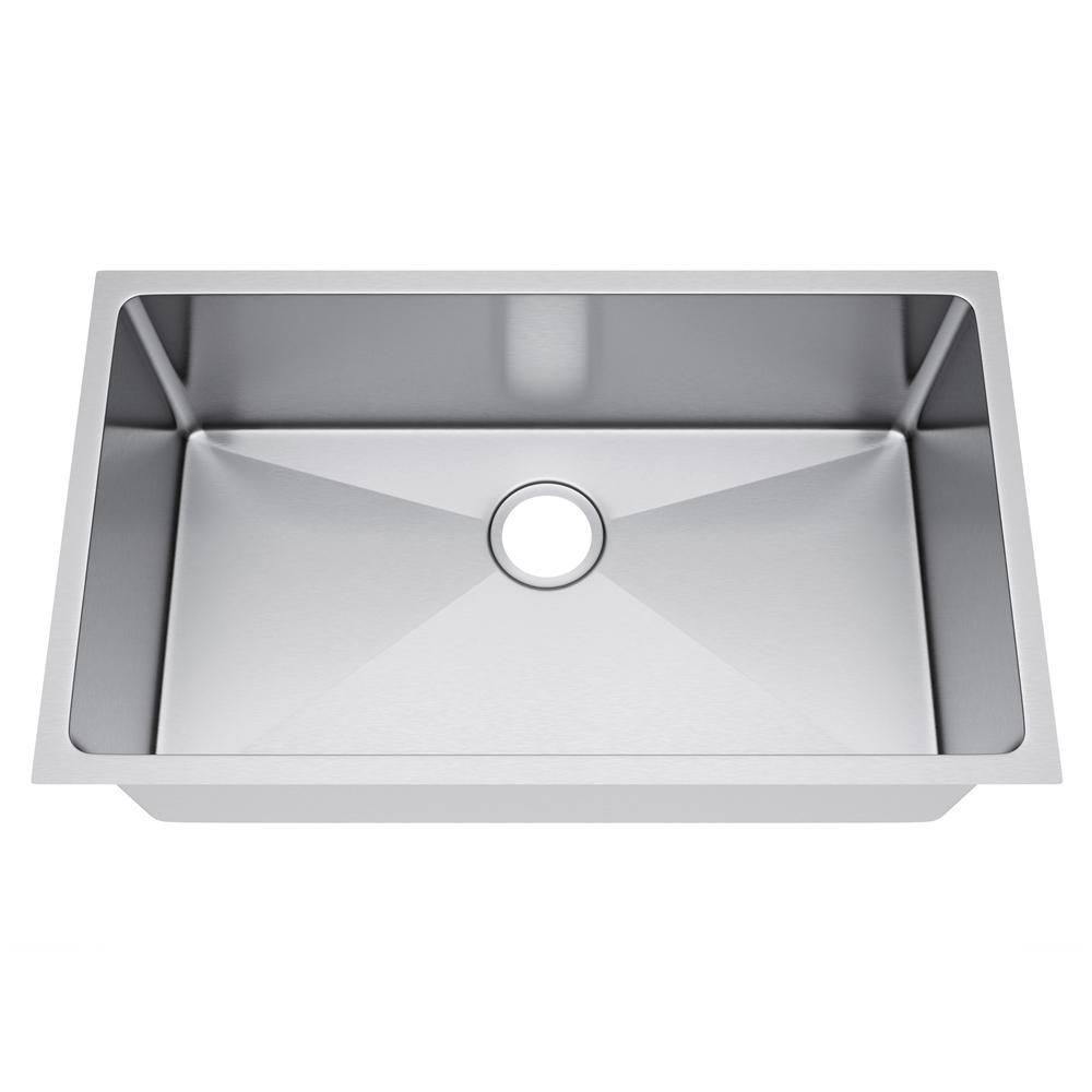All-in-One Undermount Stainless Steel 32 in. Single Bowl Kitchen Sink