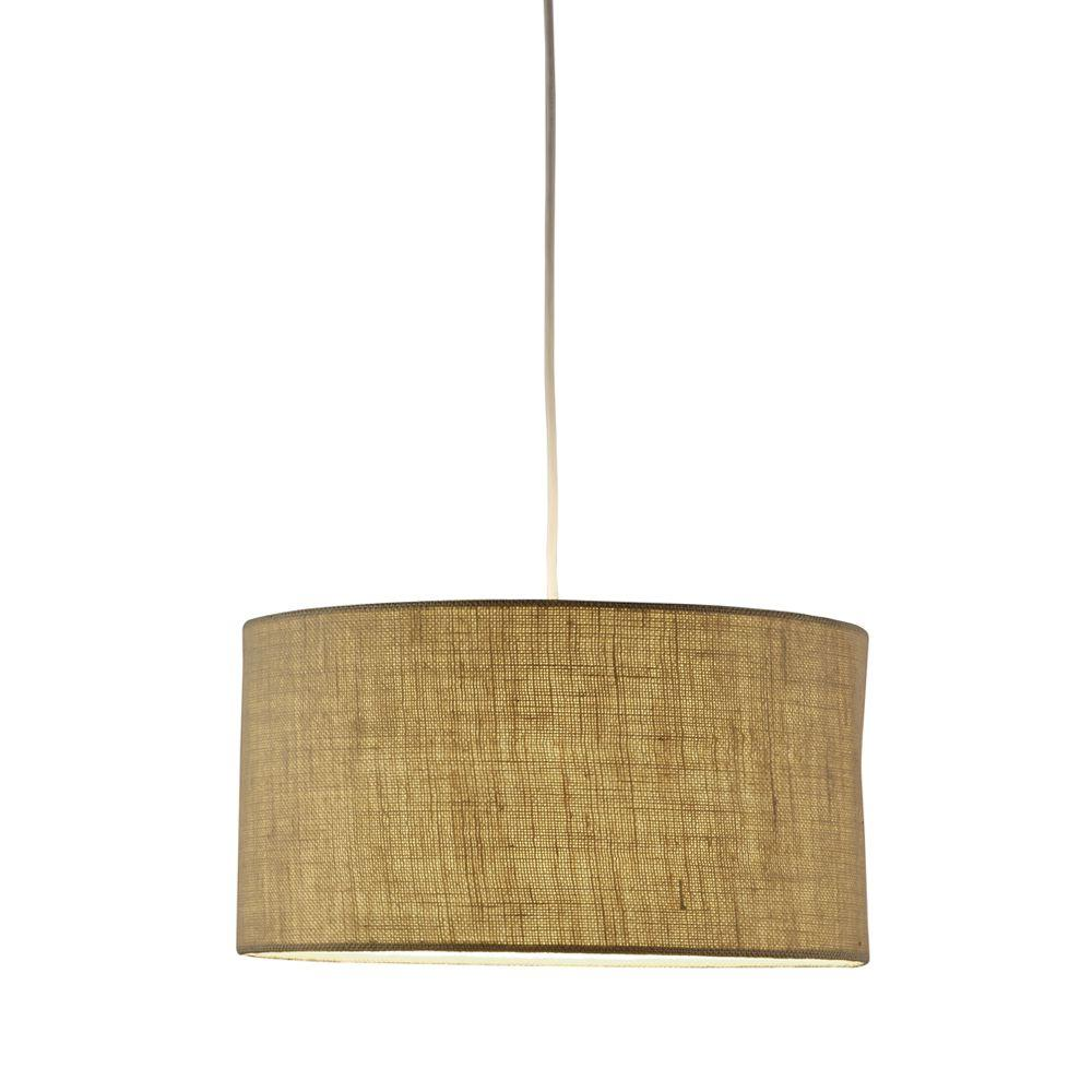 drum lighting pendant. Adesso Harvest 1-Light Burlap Drum Pendant Lighting