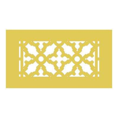 Scroll Series 8 in. x 4 in. Brass Grille, Brass without Mounting Holes