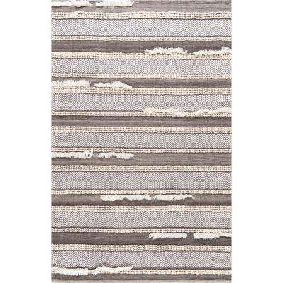 Chevron Liles Brown 4 ft. x 6 ft. Area Rug