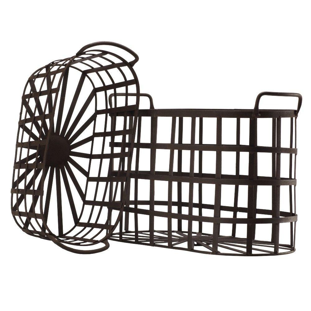 Home Decorators Collection Wallace Rust Metal Baskets (Set of 2)