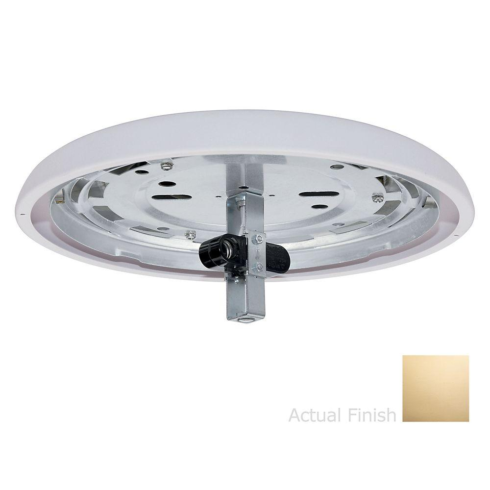 Casablanca Bright Brass Integrated Low-Profile Fitter Light Kit-DISCONTINUED
