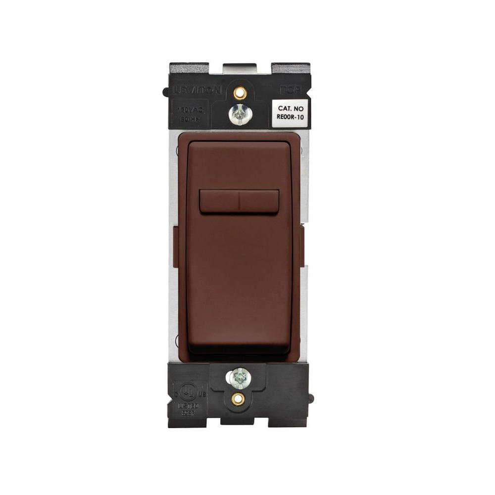 Leviton Renu 600-Watt Single Pole 3-Way or Multi-Location Coordinating Dimmer Remote - Walnut Bark-DISCONTINUED