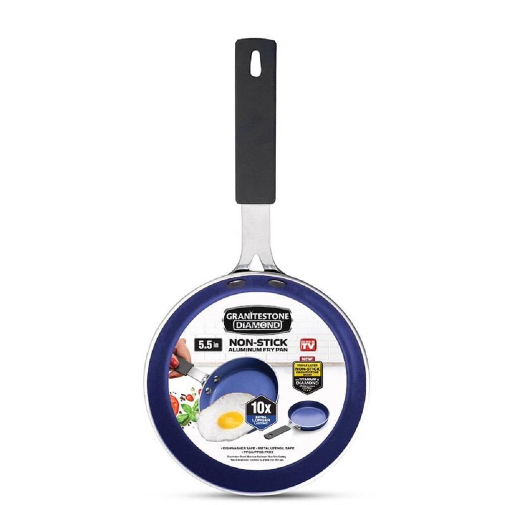 Classic Blue 5.5 in. Aluminum Non-Stick Diamond Infused Mini Fry Pan