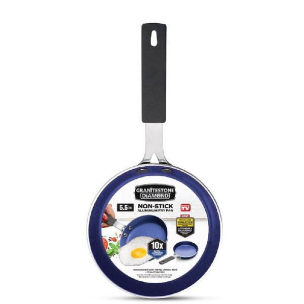 Gotham Steel 5 5 In Cast Textured Aluminum Ceramic Nonstick Fry Pan 2914 The Home Depot