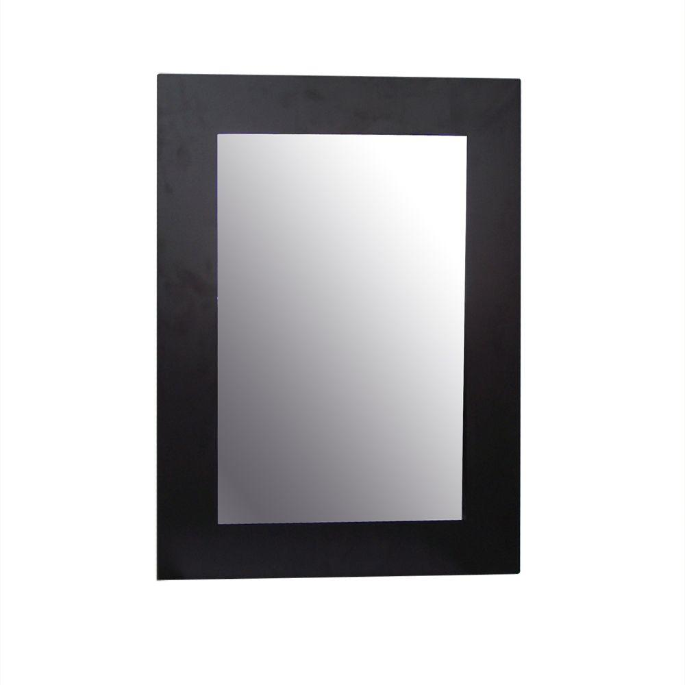 Elegant Home Fashions Chatham 25-7/8 in. x 19 in. Framed Wall Mirror in Dark Espresso