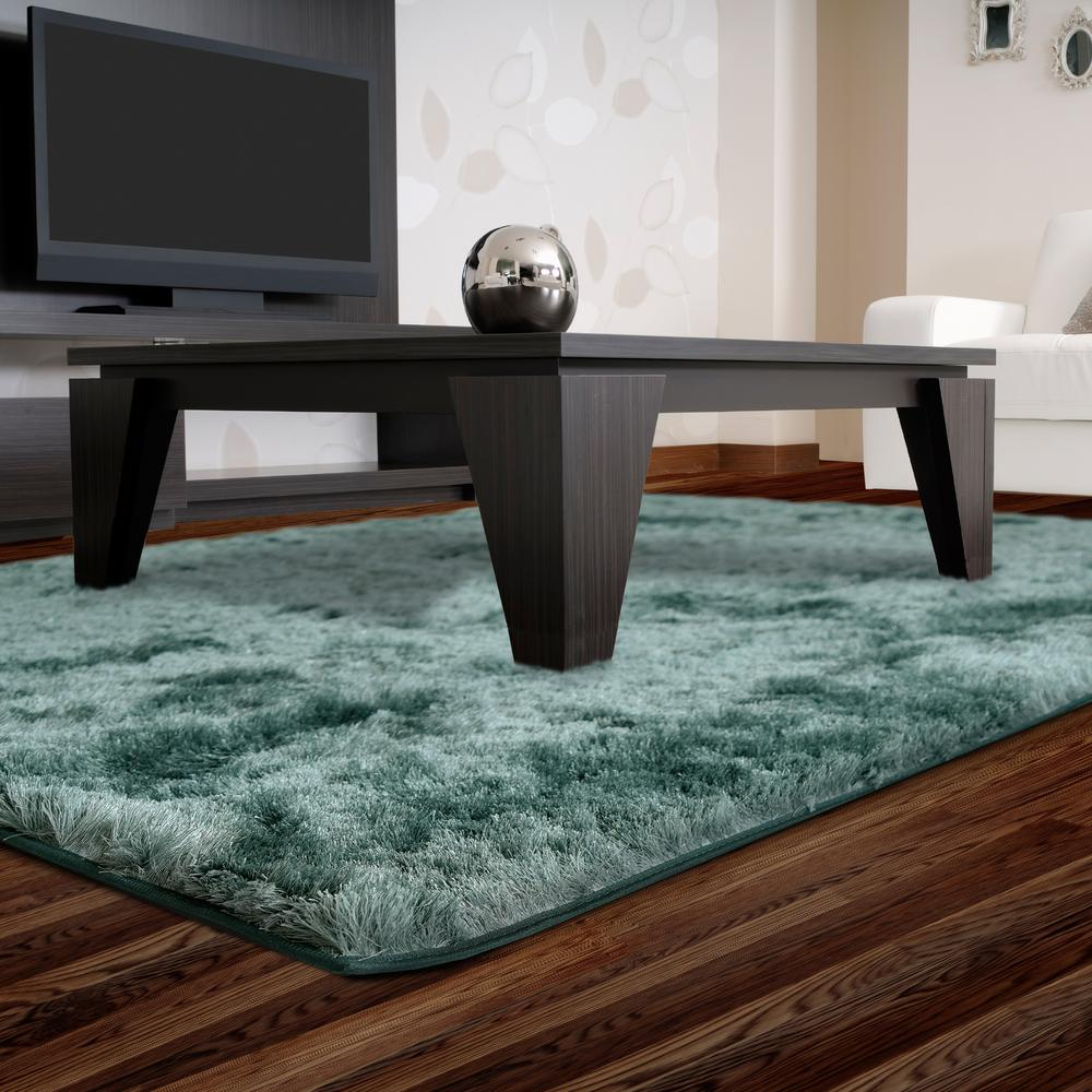 Home Decorators Collection So Silky Sky 6 ft. x 13 ft. Area Rug
