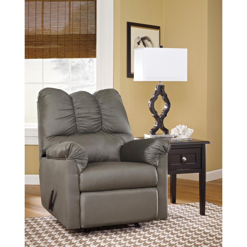 Flash Furniture Signature Design by Ashley Darcy Cobblestone Fabric Rocker Recliner