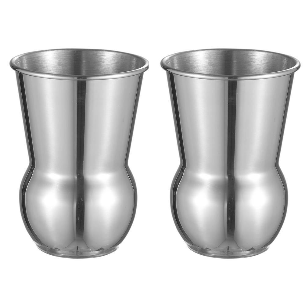 Etta 2-Piece Chrome Moscow Mule Mug Set