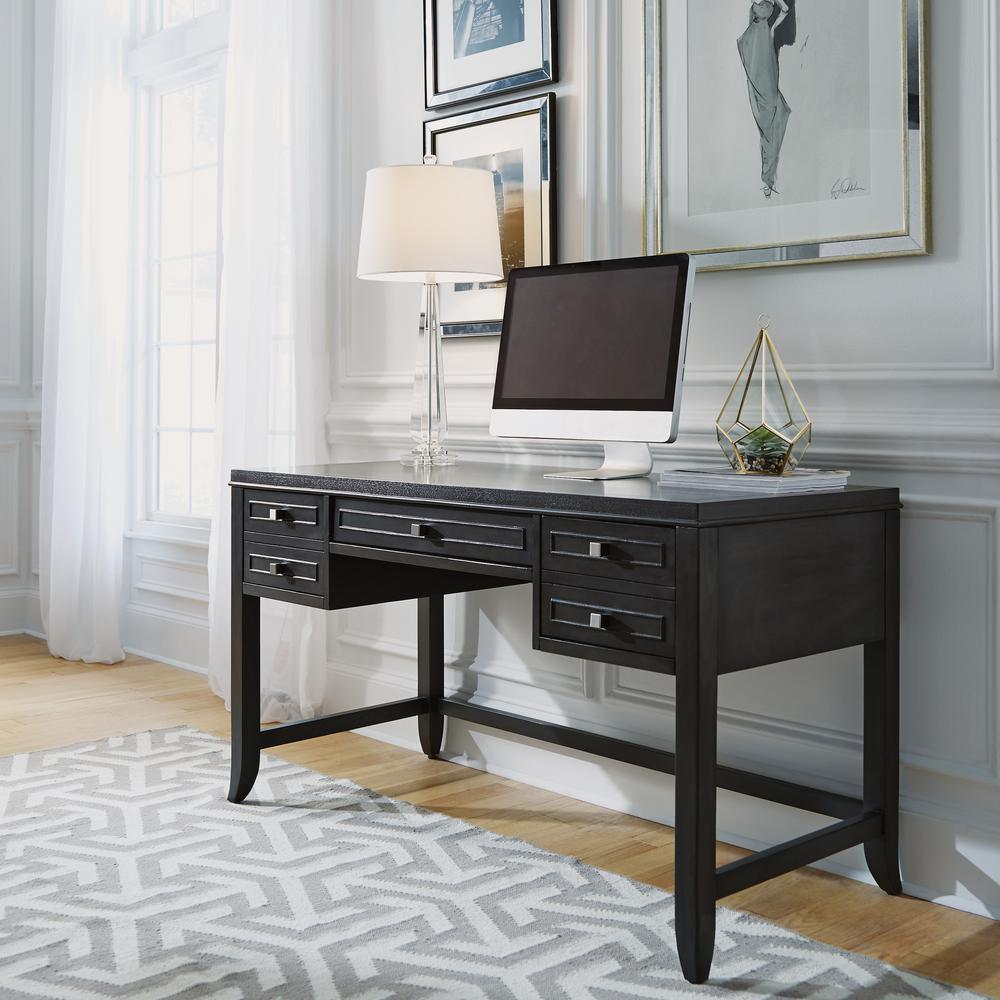 5th avenue gray sable executive writing desk