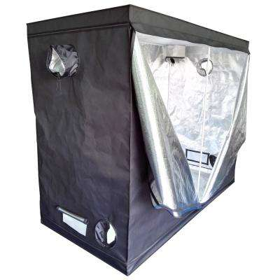 7 8 ft  x 3 9 ft  Home Use Dismountable Hydroponic Plant Black Grow Tent