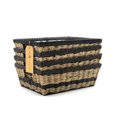 14.75 in. W x 11 in. D x 5 in. H Modern Wicker Baskets (Set of 4)