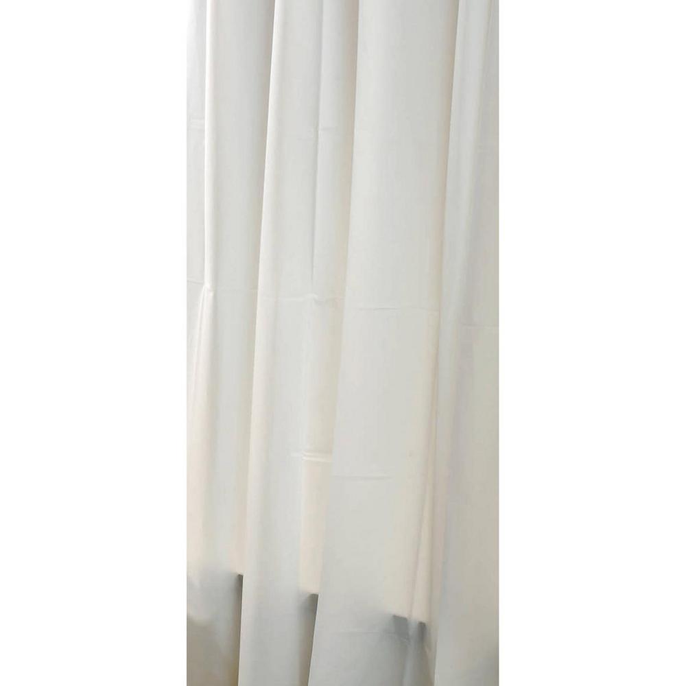 Solid Eva 71 in. x 79 in. White Bath Shower Curtain