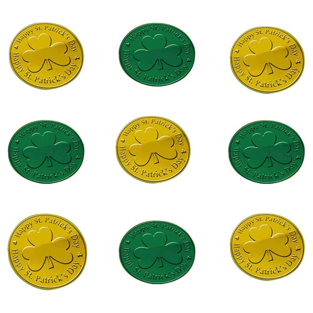 St Patricks Day Green And Gold Plastic Coins Table Scatter