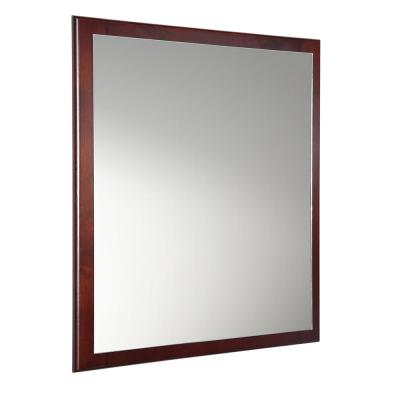 Oxford 26 in. W x 32 in. H Framed Wall Mirror in Mahogany