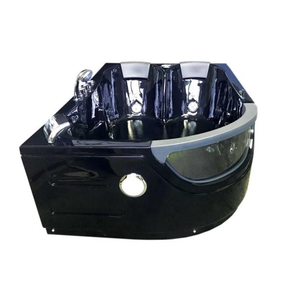 Orion With Heater 71 In Acrylic Center Drain Rectangular Alcove Whirlpool Bathtub In Black 0762179102779 The Home Depot
