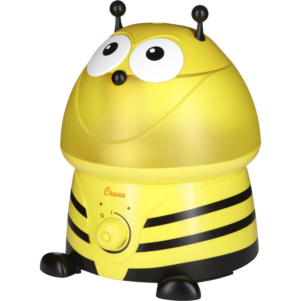 Crane Adorable Ultrasonic Cool Mist Humidifier in Bumble Bee with Filter, Yellows / Golds was $44.99 now $29.99 (33.0% off)