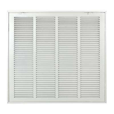 24 in. x 24 in. Steel Return Air 1 in. Filter Grille, White Grille
