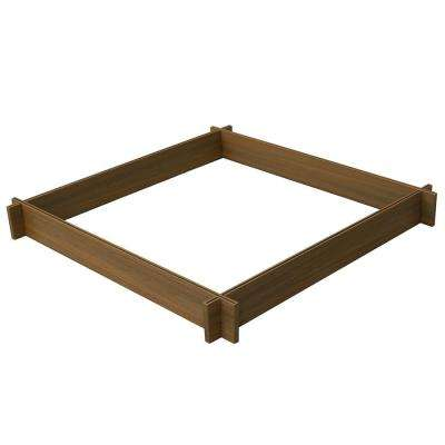 48 in. x 5.5 in. Peruvian Teak Composite Raised Garden Bed Planter Kit