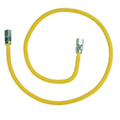 ProCoat 3/8 in. FIP x 3/8 in. FIP x 48 in. Stainless Steel Gas Connector 3/8 in. O.D. (28,300 BTU)