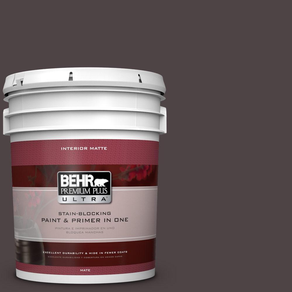 5 gal. #N110-7 Black Garnet Matte Interior Paint