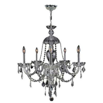 Provence Collection 7-Light Polished Chrome and Clear Crystal Chandelier