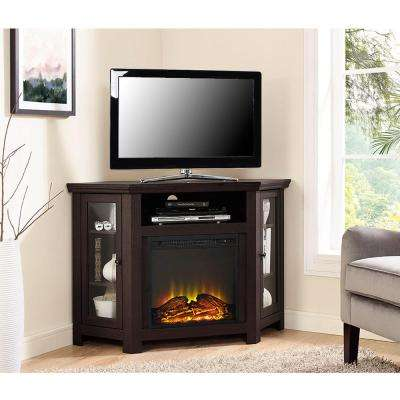 Espresso Fire Place Entertainment Center